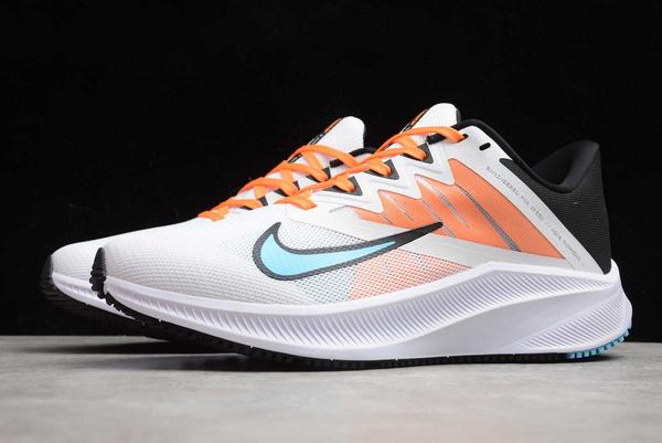 Latest Nike Quest 3 White/Orange-Black CD0232-101-2