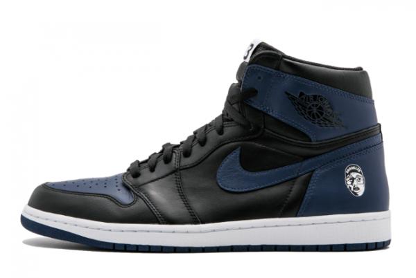 """2020 Air Jordan 1 Retro High OG """"Mars Blackmon"""" Midnight Navy/Black-White 705588-550 Shoes"""