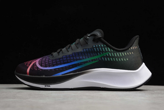 "Nike Air Zoom Pegasus 37 ""BeTrue"" Black/Multi-Color-White CZ5923-001"