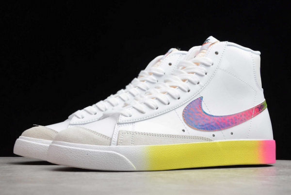 Nike Blazer Mid '77 Vintage White/Bright Cactus-Hyper Pink Shoes CZ8653-136-2