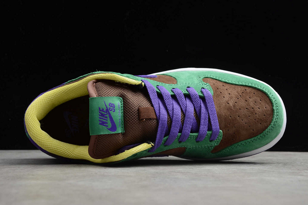 Nike SB Dunk Low Pro QS Bright Melon/Gym Green-Purple CT2552-700 Sale-3