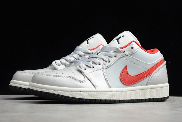 2020 New Air Jordan 1 Low White Red Shoes DA4668-001-2