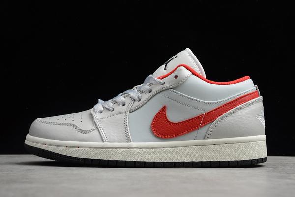 2020 New Air Jordan 1 Low White Red Shoes DA4668-001