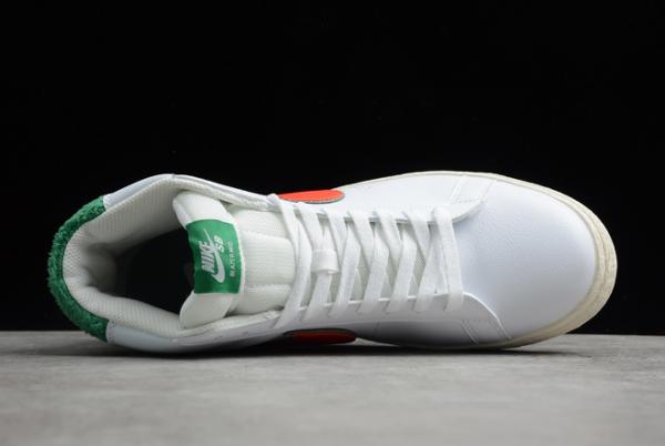 2020 Latest Nike SB Zoom Blazer Mid PRM White/Green-Orange CJ6983-103-3