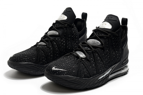 Nike LeBron 18 Black/Silver For Sale-3