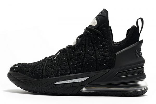 Nike LeBron 18 Black/Silver For Sale