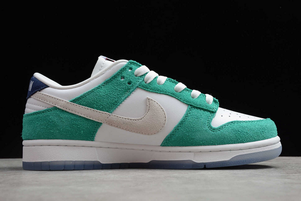 2020 Kasina x Nike Dunk Low Sail/White-Neptune Green-Industrial Blue For Cheap-4