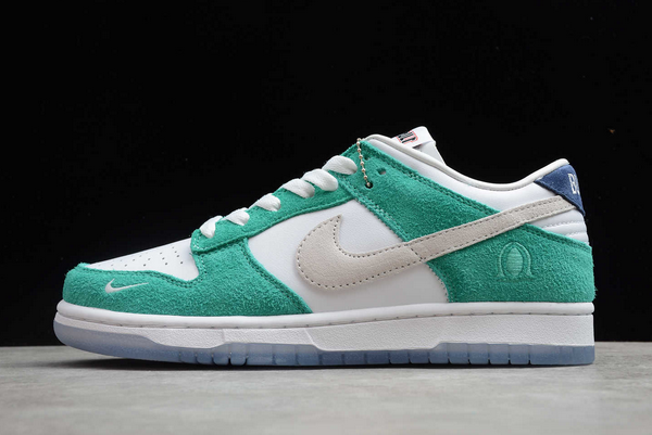 2020 Kasina x Nike Dunk Low Sail/White-Neptune Green-Industrial Blue For Cheap-3