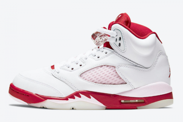 "2020 Air Jordan 5 ""Pink Foam"" White/Pink Foam-Gym Red Shoes To Buy 440892-106"