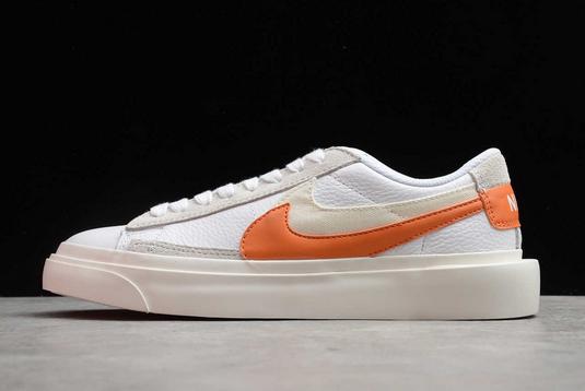 Nike Blazer Low x Sacai White/Orange-Grey BV0076-107 For Sale