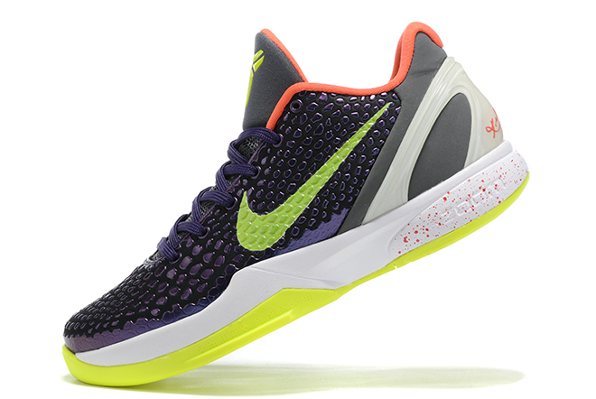 "2020 New Nike Kobe 6 Protro ""Chaos"" Ink/Dark Grey-White-Volt Shoes CW2190-500"