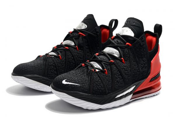 New Nike LeBron 18 Black/Varsity Red-White For Sale-1