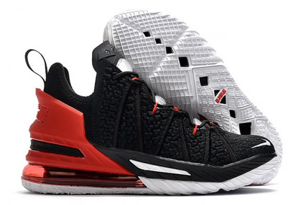 New Nike LeBron 18 Black/Varsity Red-White For Sale-2