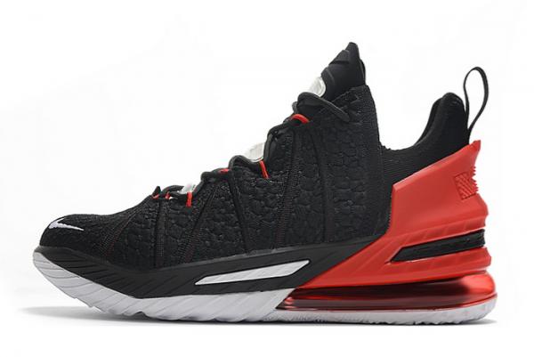 New Nike LeBron 18 Black/Varsity Red-White For Sale
