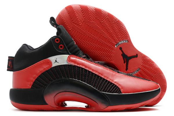 "2020 Air Jordan 35 XXXV ""Chicago Bulls"" Black/Gym Red-White Shoes-1"