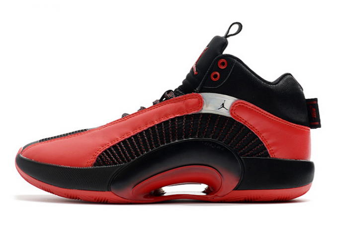 "2020 Air Jordan 35 XXXV ""Chicago Bulls"" Black/Gym Red-White Shoes"