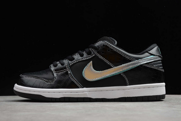 Diamond x Nike SB Dunk Low Black/Chrome-Tropical Twist Shoes