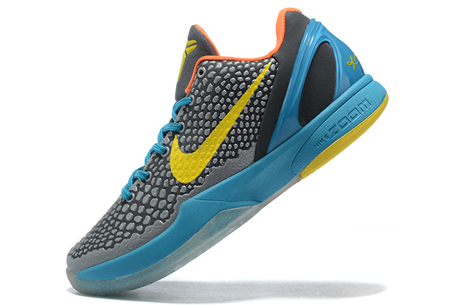 "Nike Kobe 6 Protro ""Helicopter"" Dark Grey/Vibrant Yellow-Glass Blue 429659-005"