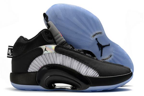 "Air Jordan 35 XXXV ""Bred"" Black/White-University Red Shoes For Cheap-1"