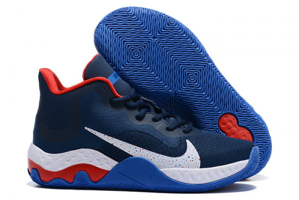 Cheap Nike Renew Elevate Navy Blue/Varsity Red-White Shoes-1