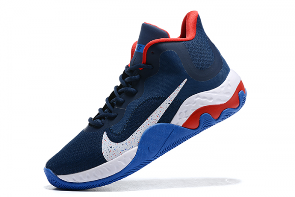 Cheap Nike Renew Elevate Navy Blue/Varsity Red-White Shoes