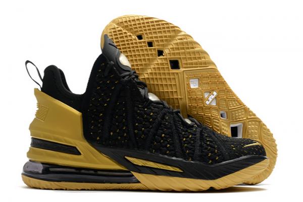 Nike LeBron 18 Metallic Gold/Black 2020 For Sale-1