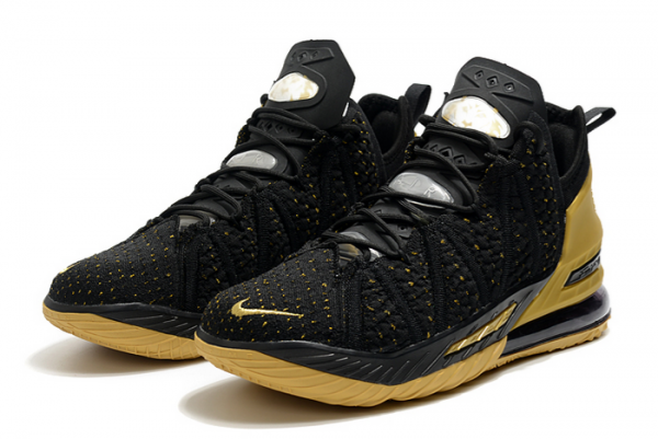 Nike LeBron 18 Metallic Gold/Black 2020 For Sale-2