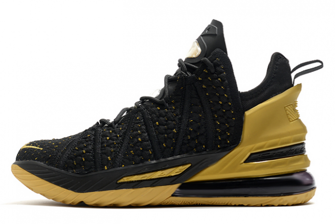 Nike LeBron 18 Metallic Gold/Black 2020 For Sale