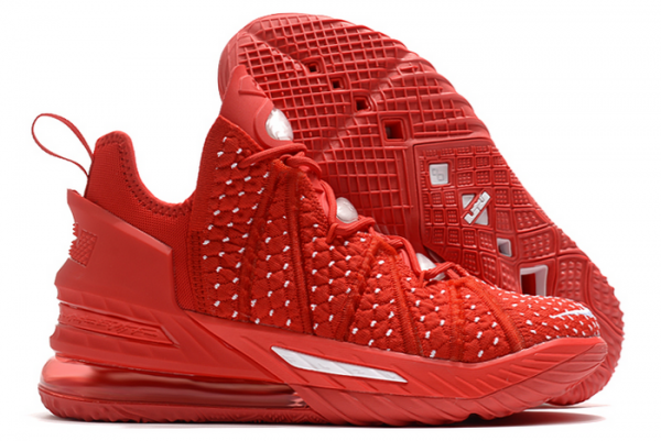 New Nike LeBron 18 University Red/White 2020 For Sale-1