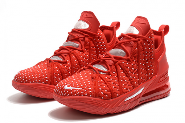 New Nike LeBron 18 University Red/White 2020 For Sale-2