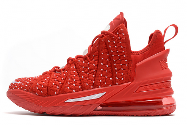 New Nike LeBron 18 University Red/White 2020 For Sale