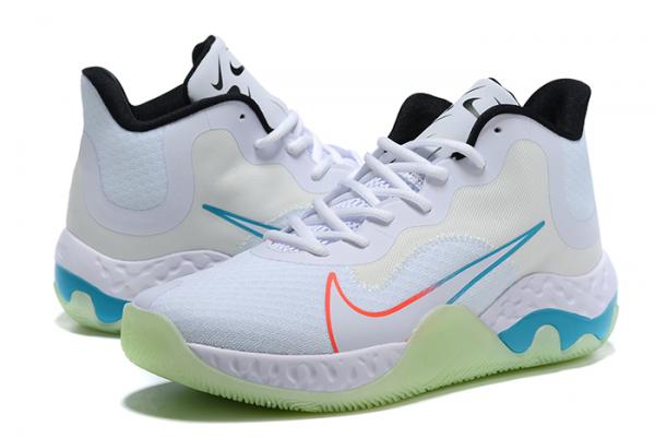 2020 New Nike Renew Elevate White/Black-Orange-Blue For Cheap-3
