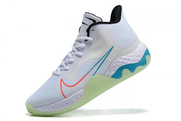 2020 New Nike Renew Elevate White/Black-Orange-Blue For Cheap