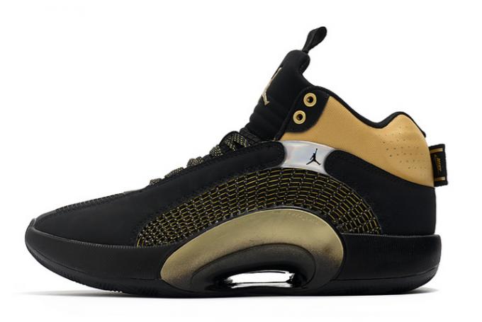 Latest Air Jordan 35 XXXV Black/Metallic Gold Shoes