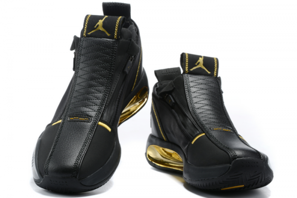 2020 Air Jordan 34 Black Gold Basketball Shoes On Sale-2
