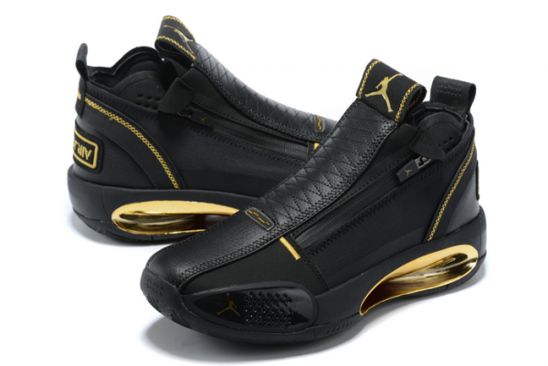 2020 Air Jordan 34 Black Gold Basketball Shoes On Sale-3