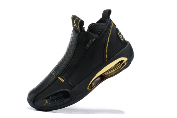 2020 Air Jordan 34 Black Gold Basketball Shoes On Sale