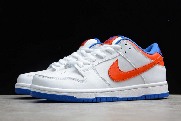 2020 Hot Sale Nike SB Dunk Low Pro White/Royal Blue-Red Sneakers 304292-103-4