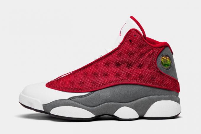 """Air Jordan 13 """"Red Flint"""" Gym Red/Flint Grey-White-Black Shoes Outlet Online DJ5982-600"""