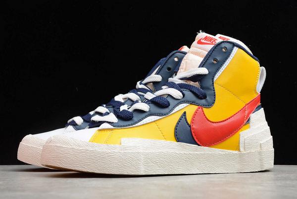 Men's Sacai x Nike Blazer Mid Varsity Maize Sneakers Discount BV0072-700-4