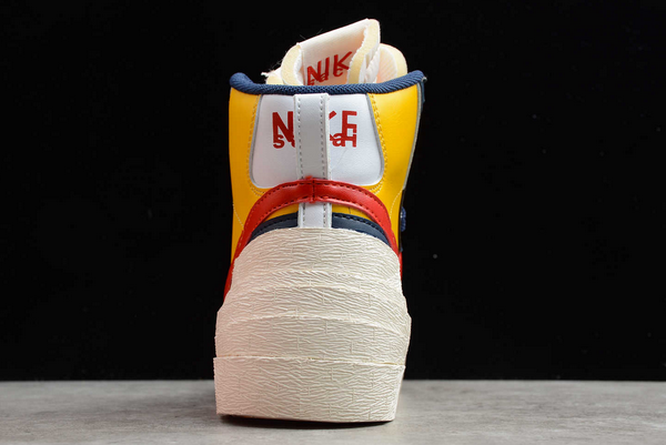 Men's Sacai x Nike Blazer Mid Varsity Maize Sneakers Discount BV0072-700-2