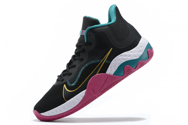 Nike Renew Elevate Black/Purple-University Gold-Green Shoes Cheap Sale