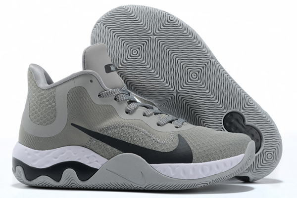 Nike Renew Elevate Cool Grey/Black-White Basketball Shoes Outlet Online-1