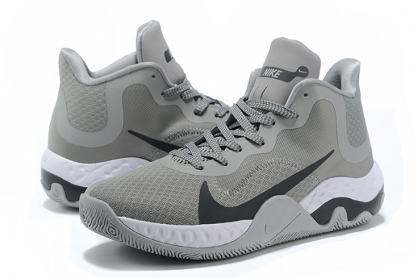 Nike Renew Elevate Cool Grey/Black-White Basketball Shoes Outlet Online-3