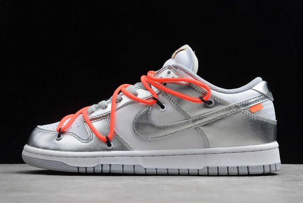 Cheap Off-White x Nike SB Dunk Low Silver/White-Black CT0856-800