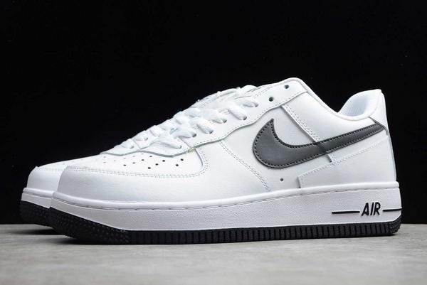 New Nike Air Force 1 Low White/Grey-Dark Grey Sneakers DD7113-100-4