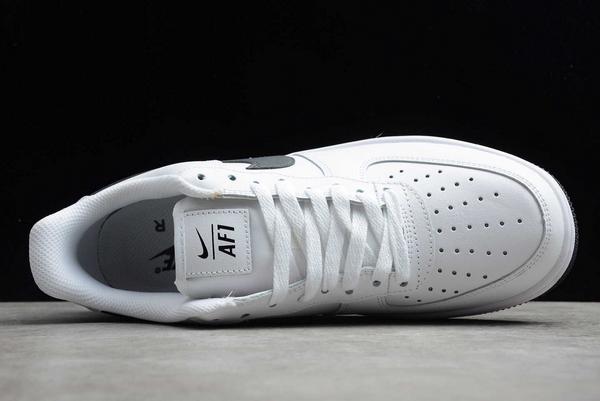New Nike Air Force 1 Low White/Grey-Dark Grey Sneakers DD7113-100-3