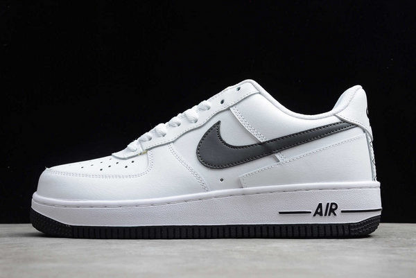 New Nike Air Force 1 Low White/Grey-Dark Grey Sneakers DD7113-100