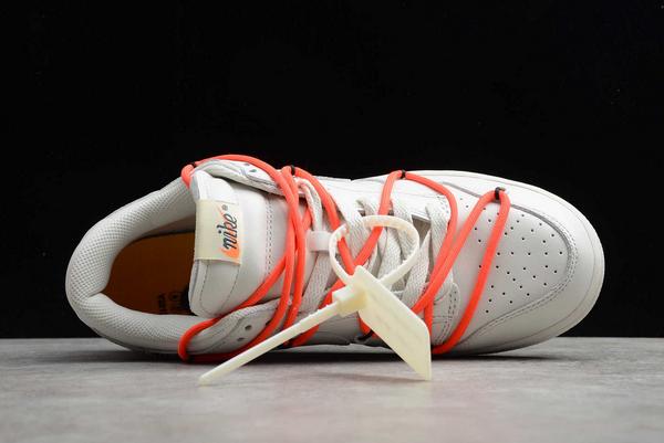 New Off-White x Nike SB Dunk Low White Black-Orange Hot Sale CT0856-900-3