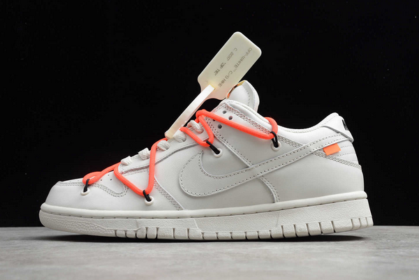New Off-White x Nike SB Dunk Low White Black-Orange Hot Sale CT0856-900